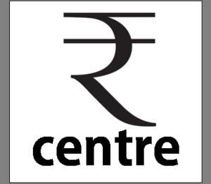 Rupee Centre B&W