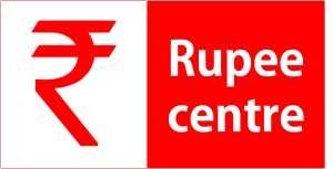 Rupee centre red